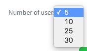 Número de usuário Visto